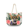 Canvas Bag - Hibiscus Plumeria Leaves