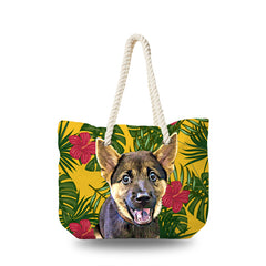 Canvas Bag - Yellow Tropical 2