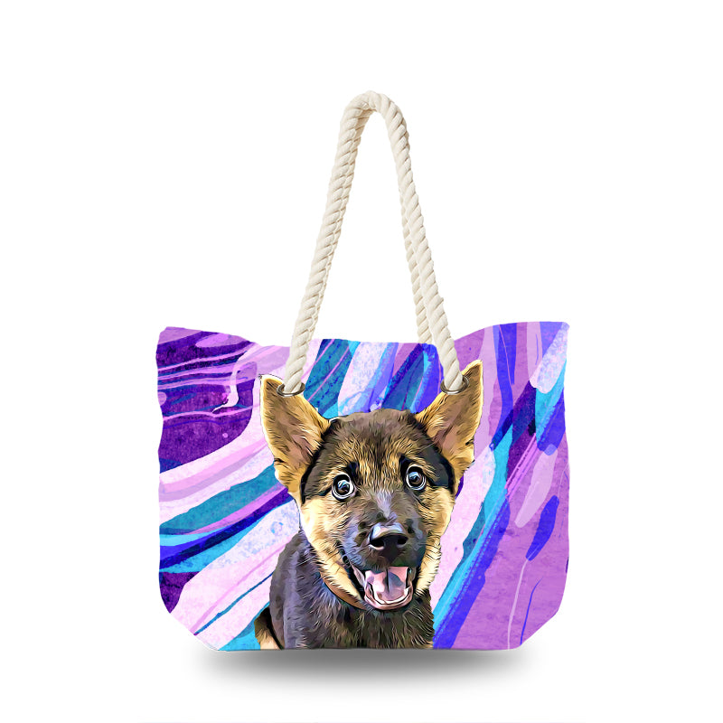 Canvas Bag - Purple and Blue