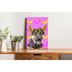 Canvas Print - Fancy Banana Pattern