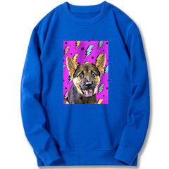 Custom Sweatshirt - Rainbow Flash in Purple Background