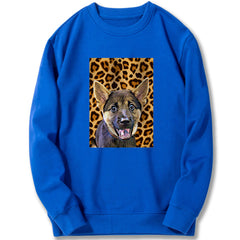 Custom Sweatshirt - Leopard Pattern