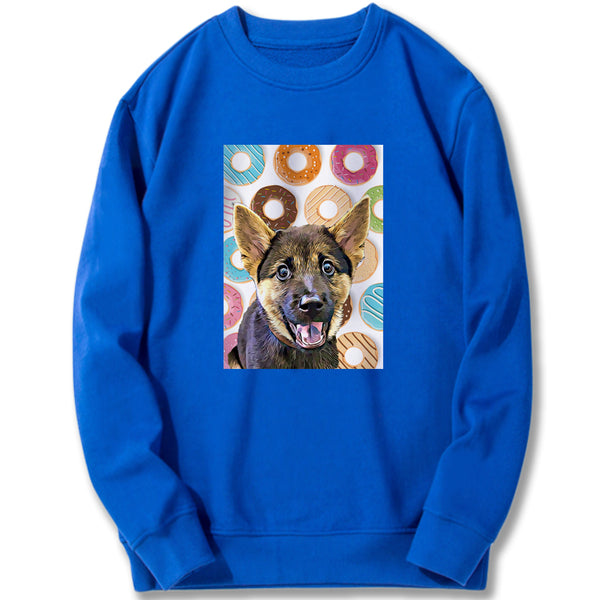 Custom Sweatshirt - Donuts Party