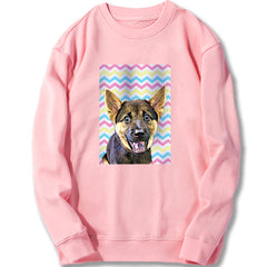 Custom Sweatshirt - Pastel Color Stripes