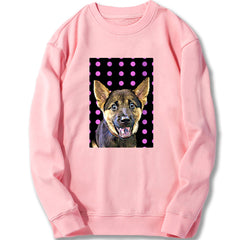 Custom Sweatshirt - Pink Poka Dots
