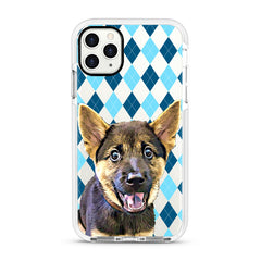 iPhone Ultra-Aseismic Case - Blue Diamond Pattern