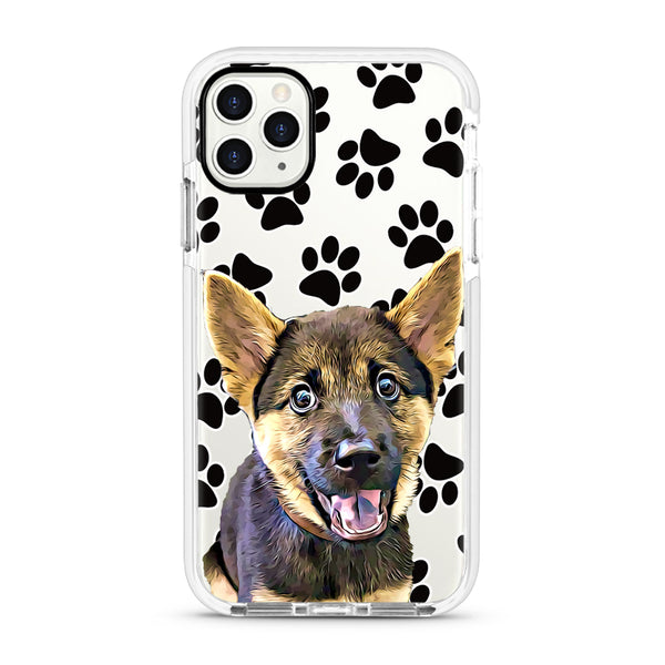 iPhone Ultra-Aseismic Case - Black Paws