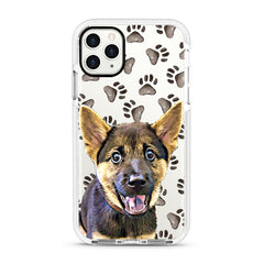 iPhone Ultra-Aseismic Case - Watercolor Paw Prints