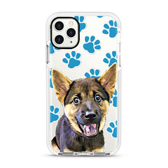 iPhone Ultra-Aseismic Case - Blue dog paws