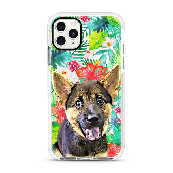 iPhone Ultra-Aseismic Case - Wild Tropical Forest in Watercolor