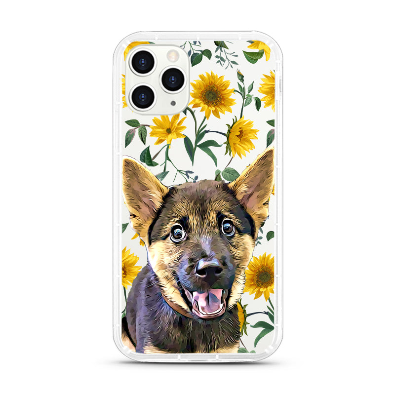 iPhone Aseismic Case - Modern Yellow Flowers