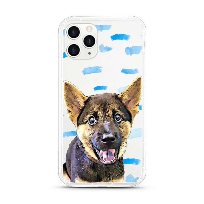 iPhone Aseismic Case - Blue Paint