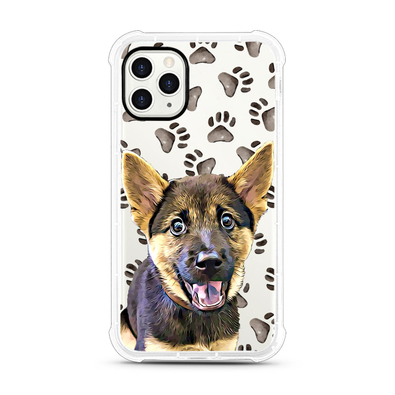 iPhone Aseismic Case - Watercolor Paw Prints