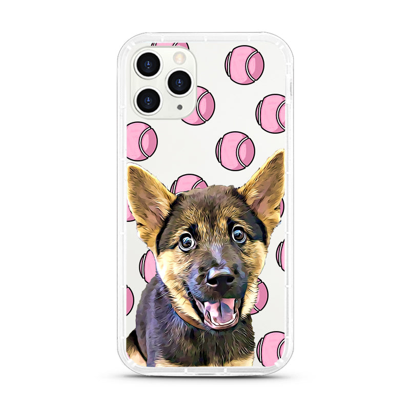 iPhone Aseismic Case - Pink Tennis Balls