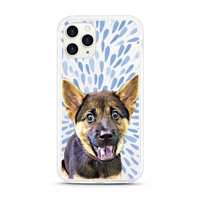 iPhone Aseismic Case - Blue Paint Splashes