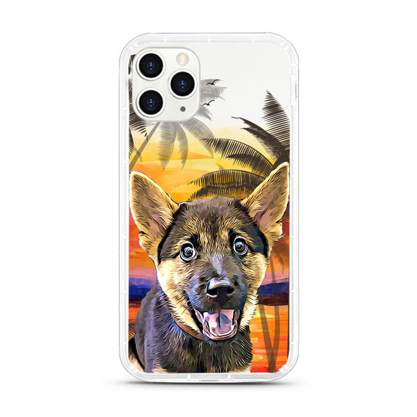 iPhone Aseismic Case - Palm Tree Sunset
