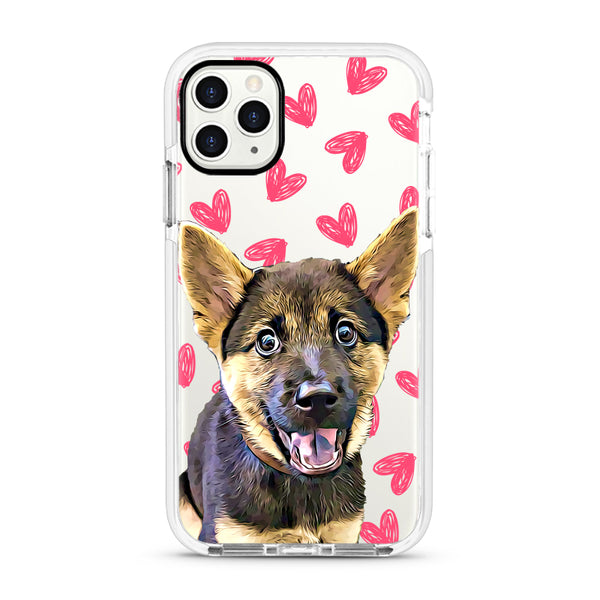 iPhone Ultra-Aseismic Case - Pretty Hearts Pattern