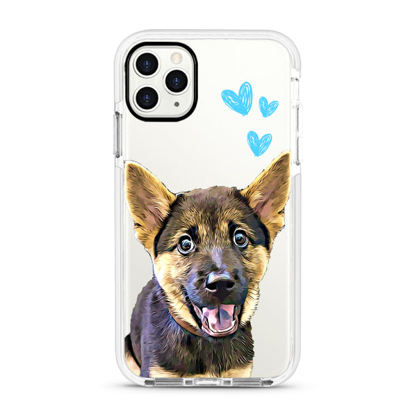 iPhone Ultra-Aseismic Case - Three Blue Hearts