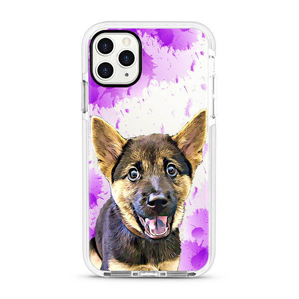 iPhone Ultra-Aseismic Case - Purple splash