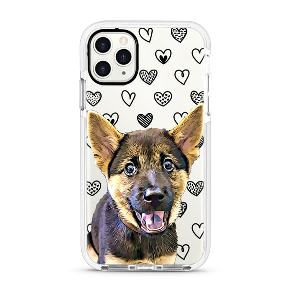 iPhone Ultra-Aseismic Case - Black Hearts 2