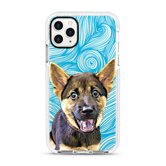 iPhone Ultra-Aseismic Case - Blue Waves with Hand Painting