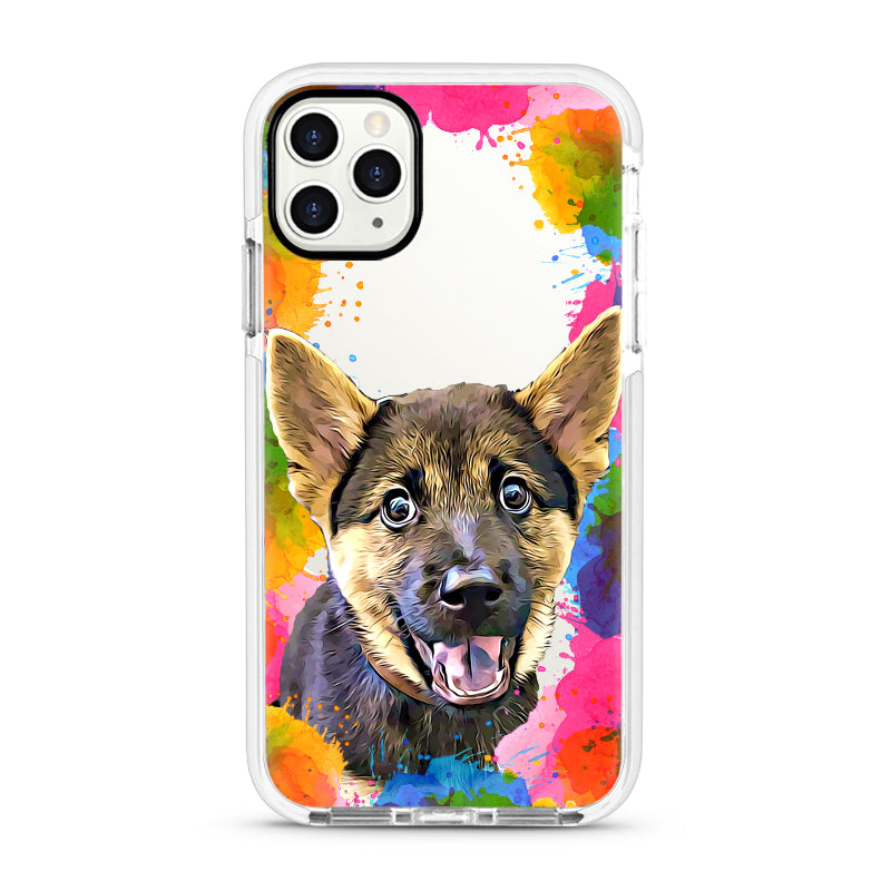 iPhone Ultra-Aseismic Case - Watercolor Frame