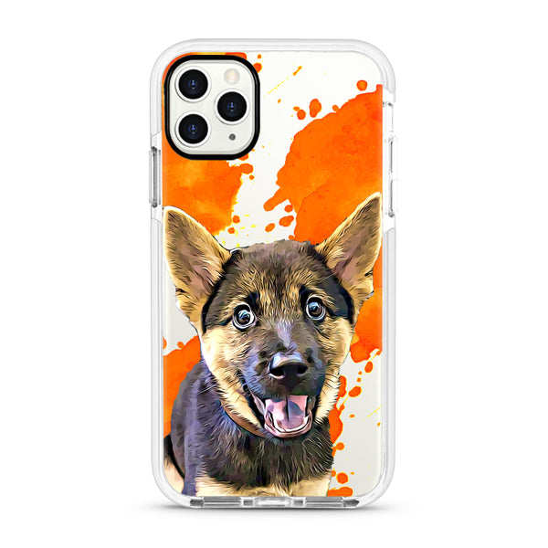 iPhone Ultra-Aseismic Case - Orange Water Splash