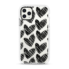 iPhone Ultra-Aseismic Case - Big Black Hearts
