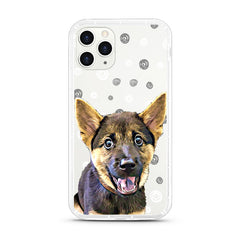 iPhone Aseismic Case - Black and White Dots