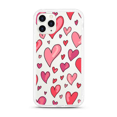 iPhone Aseismic Case - Romantic Red Hearts