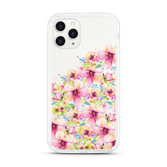 iPhone Aseismic Case - Waterpaint Floral Mountain