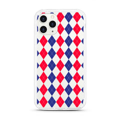 iPhone Aseismic Case - Red Blue Diamond Pattern