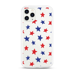 iPhone Aseismic Case - Red Blue Star