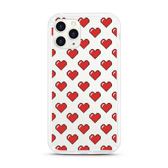 iPhone Aseismic Case - Pixel Red Hearts