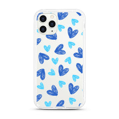 iPhone Aseismic Case - Hand Drawing Blue Heart