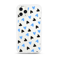 iPhone Aseismic Case - Black And Blue Hearts