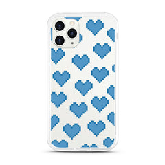 iPhone Aseismic Case - Blue Pixel Hearts