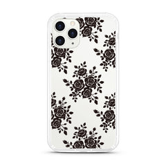 iPhone Aseismic Case - Black Lace Floral
