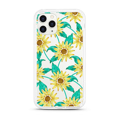 iPhone Aseismic Case - Sun Flower Tropical Water Paint