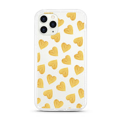 iPhone Aseismic Case - Gold Hearts