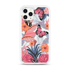 iPhone Aseismic Case - Butterfly in Pink Tropical Forest
