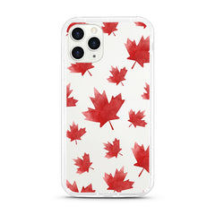 iPhone Aseismic Case - Red Maple Leaves