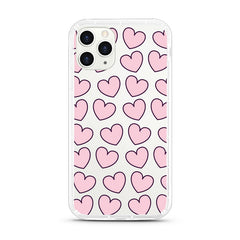 iPhone Aseismic Case - Pink Hearts 2