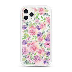iPhone Aseismic Case - Rose in Pink & Purple