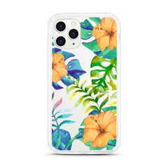 iPhone Aseismic Case - Watercolor Tropical Yellow Floral