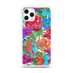 iPhone Aseismic Case - Scarlet Red and Blue Floral