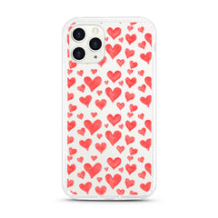 iPhone Aseismic Case - Red Hearts