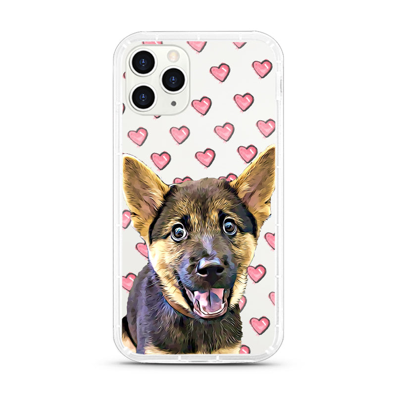iPhone Aseismic Case - Pink Hearts