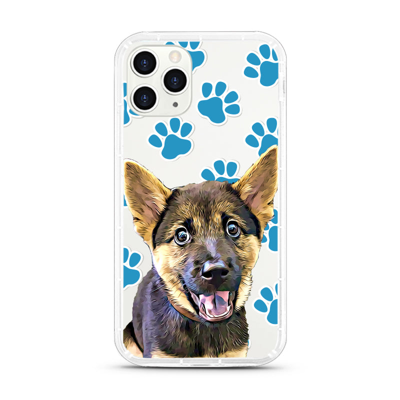 iPhone Aseismic Case - Blue dog paws