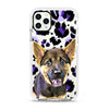 iPhone Ultra-Aseismic Case - Purple Leopard Print